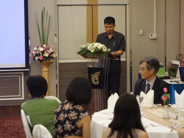タイ支部ワンチャイ氏による挨拶